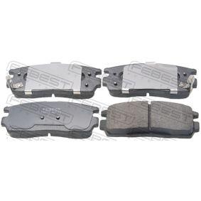 Bremsbelagsatz, Scheibenbremse Breite: 110,6mm, Höhe: 45,2mm, Dicke/Stärke: 14,7mm mit OEM-Nummer 58302-H1A00