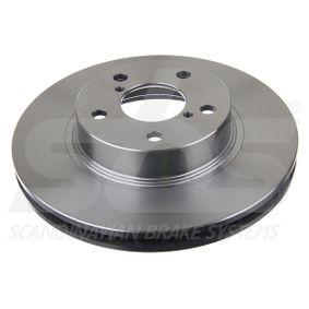 Bremsscheibe Bremsscheibendicke: 24,00mm, Felge: 5,00-loch, Ø: 260mm mit OEM-Nummer 26300-AE040