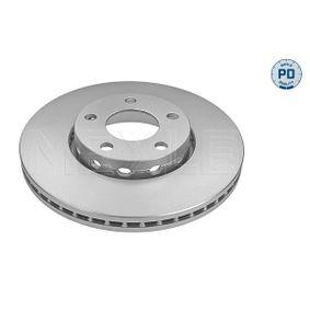 Bremsscheibe Bremsscheibendicke: 25mm, Lochanzahl: 5, Ø: 288mm mit OEM-Nummer 8E0 615 301 Q