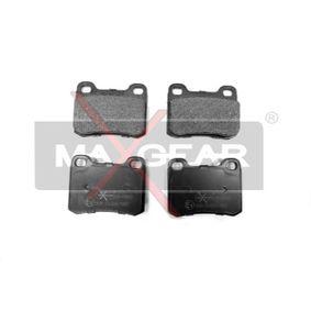 MAXGEAR  19-0402 Bremsbelagsatz, Scheibenbremse Breite: 61,7mm, Höhe: 54,4mm, Dicke/Stärke: 13,5mm