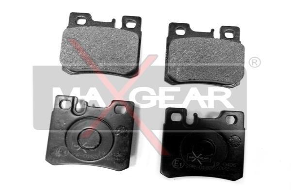MAXGEAR  19-0406 Bremsbelagsatz, Scheibenbremse Breite: 62,6mm, Höhe: 58,5mm, Dicke/Stärke: 15mm