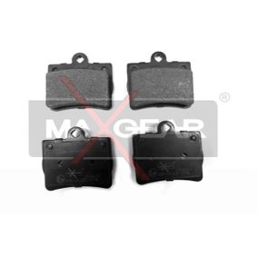 Bremsbelagsatz, Scheibenbremse Breite: 62,3mm, Höhe: 63,3mm, Dicke/Stärke: 15,8mm mit OEM-Nummer A0024205120