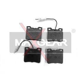 MAXGEAR  19-0412 Bremsbelagsatz, Scheibenbremse Breite: 63,8mm, Höhe: 57,4mm, Dicke/Stärke: 16,4mm