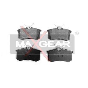 MAXGEAR  19-0428 Bremsbelagsatz, Scheibenbremse Breite: 87mm, Höhe: 53mm, Dicke/Stärke: 17,2mm