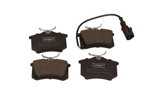 MAXGEAR  19-0430 Bremsbelagsatz, Scheibenbremse Breite: 87mm, Höhe: 53mm, Dicke/Stärke: 17,2mm