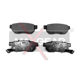 Комплект спирачно феродо, дискови спирачки 19-0431 25 Хечбек (RF) 2.0 iDT Г.П. 2001