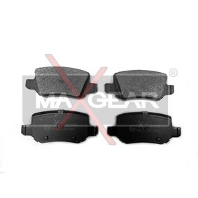Brake Pad Set, disc brake Height: 41,5mm, Thickness: 14,3mm with OEM Number A168 420 04 20