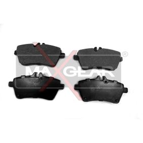 Bremsbelagsatz, Scheibenbremse Breite: 116,4mm, Höhe: 63,7mm, Dicke/Stärke: 19mm mit OEM-Nummer 169 420 1020