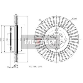 Brake Disc Brake Disc Thickness: 22mm, Num. of holes: 4, Ø: 258mm with OEM Number 98AG-1125E-A
