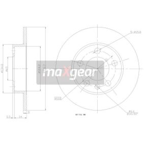 Bremsscheibe Bremsscheibendicke: 9mm, Ø: 230mm mit OEM-Nummer 1J0615601P