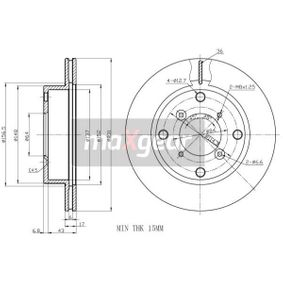 MAXGEAR Brake disc kit Front Axle, Vented