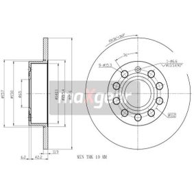 Bremsscheibe Bremsscheibendicke: 12mm, Lochanzahl: 5, Ø: 257mm mit OEM-Nummer 1K0 615 601 AC