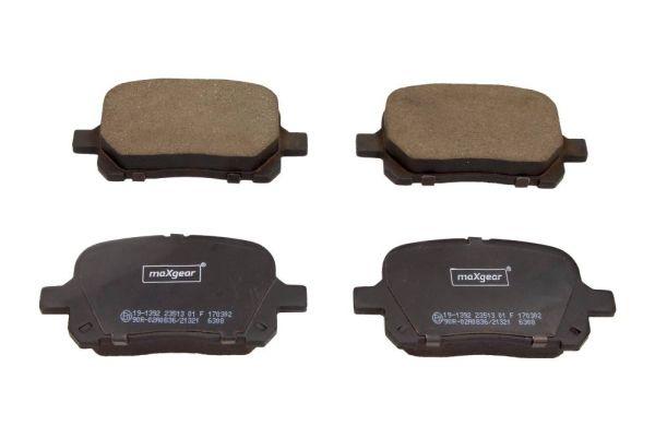 MAXGEAR  19-1392 Bremsbelagsatz, Scheibenbremse Breite: 116,7mm, Höhe: 59,5mm, Dicke/Stärke: 17mm