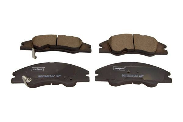 MAXGEAR  19-1435 Bremsbelagsatz, Scheibenbremse Breite: 165mm, Höhe: 59,1mm, Dicke/Stärke: 17,2mm