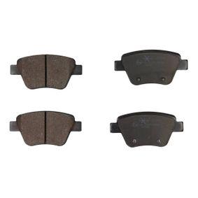 Bremsbelagsatz, Scheibenbremse Breite: 109,5mm, Höhe: 53,3mm, Dicke/Stärke: 16,2mm mit OEM-Nummer 8P0098601P