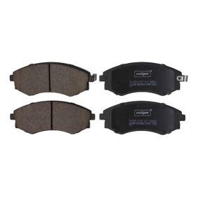 Bremsbelagsatz, Scheibenbremse Breite: 137,1mm, Höhe: 54mm, Dicke/Stärke: 17mm mit OEM-Nummer 58101-3CA20