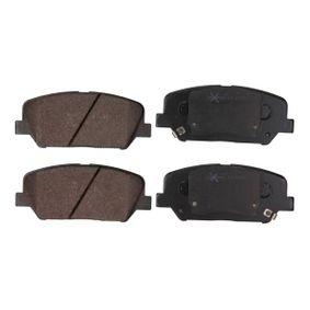 Bremsbelagsatz, Scheibenbremse Breite: 140,7mm, Höhe: 59,9mm, Dicke/Stärke: 17,3mm mit OEM-Nummer 58101A6A20(-)