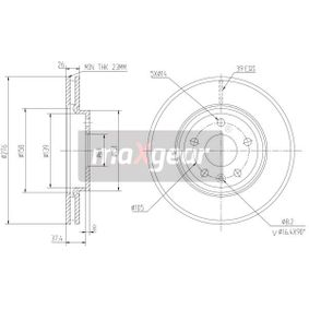 Bremsscheibe Bremsscheibendicke: 26mm, Lochanzahl: 5, Ø: 276mm mit OEM-Nummer 5 69 073