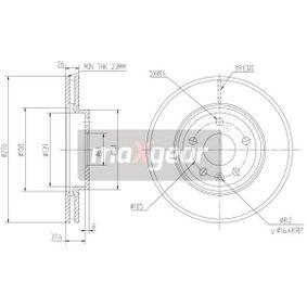 MAXGEAR  19-2334 Bremsscheibe Bremsscheibendicke: 26mm, Lochanzahl: 5, Ø: 276mm