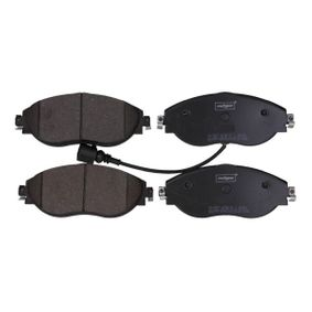 Brake Pad Set, disc brake Height: 69,7mm, Thickness: 20,0mm with OEM Number 3C0 698 151G