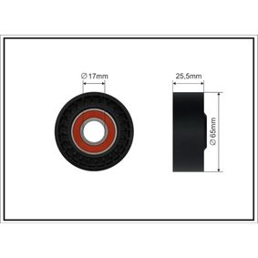 Spannrolle, Keilrippenriemen Breite: 25,5mm mit OEM-Nummer 8200608550