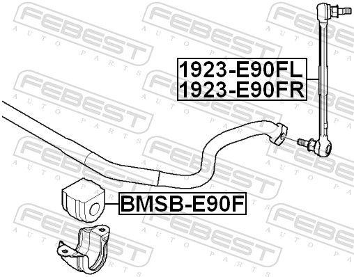 Sway Bar Link FEBEST 1923-E90FL rating