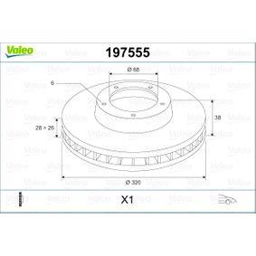 Bremsscheibe Bremsscheibendicke: 28mm, Felge: 6-loch, Ø: 320mm mit OEM-Nummer 40206 EB320