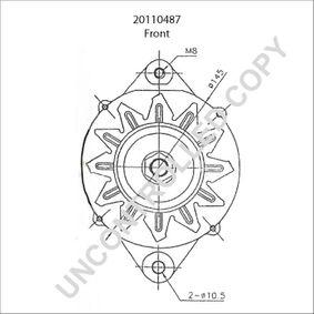Lichtmaschine mit OEM-Nummer LR 170-509