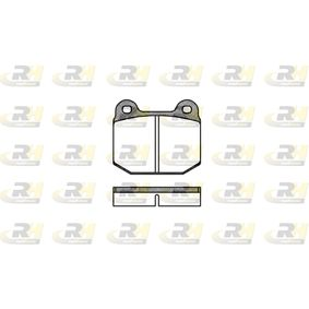 Brake Pad Set, disc brake Height: 65,5mm, Thickness: 16,5mm with OEM Number 16 05 317