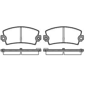 2009 Mazda 3 BL 1.6 MZR Brake Pad Set, disc brake 2021.36