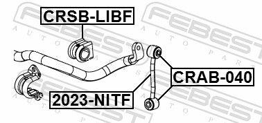 Tirante Barra Stabilizzatrice FEBEST 2023-NITF valutazione