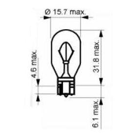 Bulb, indicator W16W, W2,1x9,5d, 12V, 16W 202402