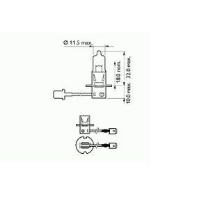 Glühlampe, Fernscheinwerfer H3, 55W, 12V, Basic 202723