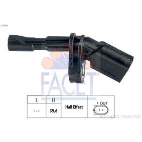 Sensor, Raddrehzahl mit OEM-Nummer 1K0927808