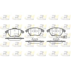 Kit de plaquettes de frein, frein à disque Hauteur 1: 71,4mm, Hauteur 2: 66mm, Épaisseur: 20,3mm avec OEM numéro 8J0.698.151C