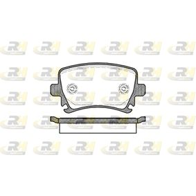 Bremsbelagsatz, Scheibenbremse Höhe: 56mm, Dicke/Stärke: 17mm mit OEM-Nummer 3C0 698 451 F