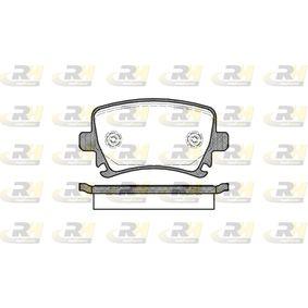 Bremsbelagsatz, Scheibenbremse Höhe: 56mm, Dicke/Stärke: 17mm mit OEM-Nummer 1K0-698-451-B