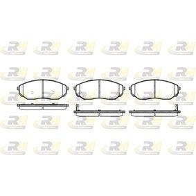 2005 KIA Sorento jc 2.5 CRDi Brake Pad Set, disc brake 21041.02