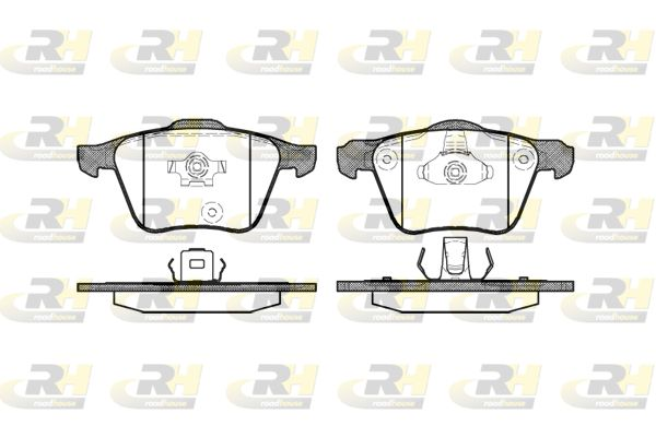 ROADHOUSE  21043.00 Bremsbelagsatz, Scheibenbremse Höhe 1: 75,2mm, Höhe 2: 74,2mm, Dicke/Stärke 1: 20,8mm, Dicke/Stärke 2: 19,3mm