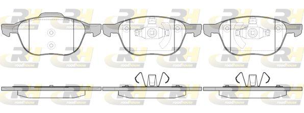 ROADHOUSE  21082.00 Bremsbelagsatz, Scheibenbremse Höhe 1: 62,5mm, Höhe 2: 67,2mm, Dicke/Stärke: 18mm
