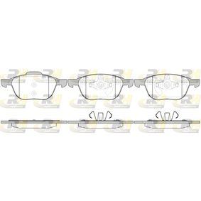 Bremsbelagsatz, Scheibenbremse Höhe 1: 62,5mm, Höhe 2: 67,2mm, Dicke/Stärke: 18mm mit OEM-Nummer 3M512K021-AA