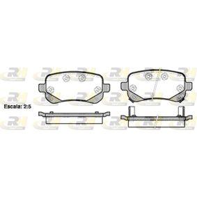 ROADHOUSE  21095.02 Bremsbelagsatz, Scheibenbremse Höhe: 52,80mm, Dicke/Stärke: 16,80mm