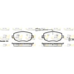 ROADHOUSE  21099.01 Bremsbelagsatz, Scheibenbremse Höhe: 55,5mm, Dicke/Stärke: 15,6mm