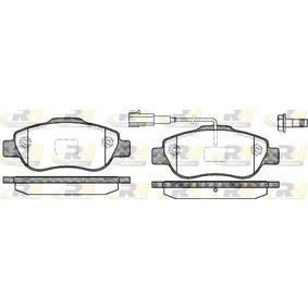 Bremsbelagsatz, Scheibenbremse Höhe: 51,7mm, Dicke/Stärke: 17,4mm mit OEM-Nummer 7 736 397 4