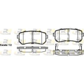 Brake Pad Set, disc brake Height: 41mm, Thickness: 15,2mm with OEM Number 58302 4WA10