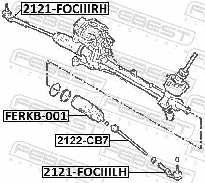 Articulatie axiala, cap de bara FEBEST 2122-CB7 nota