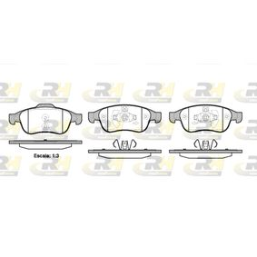 Bremsbelagsatz, Scheibenbremse Höhe 1: 64,7mm, Höhe 2: 59,4mm, Dicke/Stärke: 18mm mit OEM-Nummer 4106 059 61R