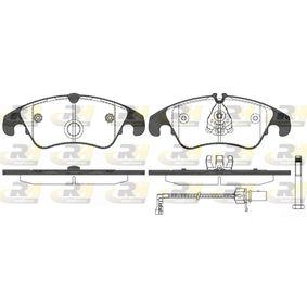 Bremsbelagsatz, Scheibenbremse Höhe 2: 73,6mm, Höhe: 73mm, Dicke/Stärke: 19mm mit OEM-Nummer 8R0 698 151 A