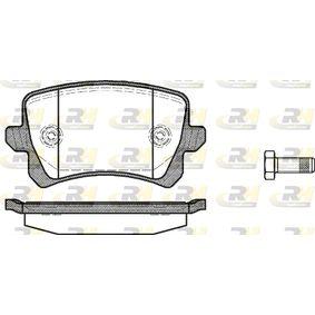 Bremsbelagsatz, Scheibenbremse Höhe: 56,4mm, Dicke/Stärke: 17mm mit OEM-Nummer 3C0-698-451-F