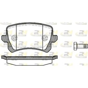 Bremsbelagsatz, Scheibenbremse Höhe: 56,4mm, Dicke/Stärke: 17mm mit OEM-Nummer 1K0 698 451 L